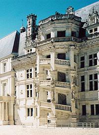 L'escalier Fran�ois Ier du ch�teau de Blois