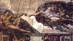 La création de l'homme/ Michel Ange/ chapelle sixtine